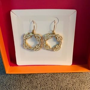 Coach Gold Pave Crystal Earrings.